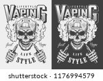 vaping apparel design with... | Shutterstock .eps vector #1176994579