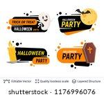 halloween set of badges with... | Shutterstock .eps vector #1176996076