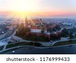 aerial view royal wawel castle... | Shutterstock . vector #1176999433