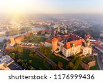 aerial view royal wawel castle...