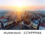 krakow market square  aerial... | Shutterstock . vector #1176999466