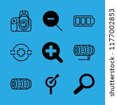 9 zoom icons with zoom out and... | Shutterstock .eps vector #1177002853
