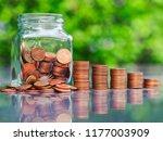 saving money concept | Shutterstock . vector #1177003909