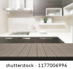 table top and blur kitchen room ... | Shutterstock . vector #1177006996