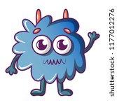 furry monster icon. cartoon...   Shutterstock . vector #1177012276