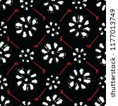 Black Bohemian Retro Floral...