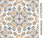 vector seamless geometric aztec ... | Shutterstock .eps vector #1177015390