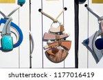 flea market  natural stones ... | Shutterstock . vector #1177016419