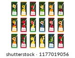 labels for fruits milk. 9... | Shutterstock .eps vector #1177019056