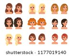 collection of beautiful young... | Shutterstock .eps vector #1177019140