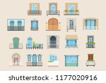 set of colorful beautiful... | Shutterstock .eps vector #1177020916
