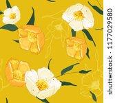 blossom floral seamless pattern.... | Shutterstock .eps vector #1177029580