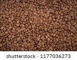 coffee beans background | Shutterstock . vector #1177036273