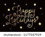 modern calligraphy of happy... | Shutterstock .eps vector #1177037929