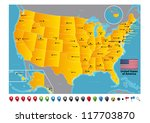 united states of america | Shutterstock .eps vector #117703870