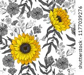 seamless pattern with... | Shutterstock .eps vector #1177039276