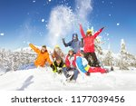 Happy Skiers And Snowboarders...