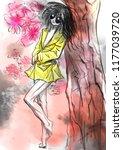 comics beauty. an hand painted... | Shutterstock . vector #1177039720