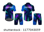 cycling jerseys mockup t shirt... | Shutterstock .eps vector #1177043059