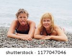best friends  two nice middle... | Shutterstock . vector #1177047046