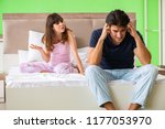 woman and man in the bedroom... | Shutterstock . vector #1177053970