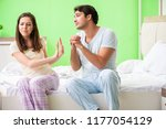 man trying to make up with wife ... | Shutterstock . vector #1177054129
