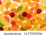 colorful fruit marmalade. lemon ... | Shutterstock . vector #1177055536