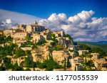 view of gordes  a small... | Shutterstock . vector #1177055539