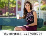 beautiful woman with perfect... | Shutterstock . vector #1177055779