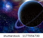 planet and cosmos. latin text... | Shutterstock . vector #1177056730