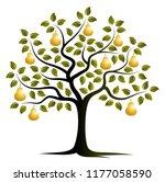 Vector Golden Pear Tree...