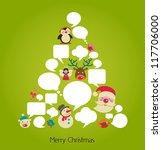 abstract vector christmas tree... | Shutterstock .eps vector #117706000