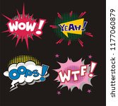 set of comic sound effect... | Shutterstock .eps vector #1177060879