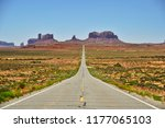 highway south 163 leading to... | Shutterstock . vector #1177065103