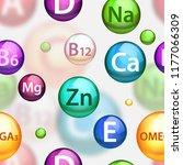 vitamin complex pharmaceutical... | Shutterstock .eps vector #1177066309