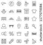 thin line vector icon set  ... | Shutterstock .eps vector #1177070086