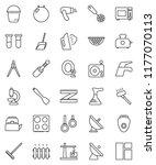 thin line vector icon set  ... | Shutterstock .eps vector #1177070113