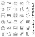 thin line vector icon set  ... | Shutterstock .eps vector #1177070143