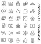 thin line vector icon set  ...   Shutterstock .eps vector #1177070230