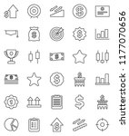 thin line vector icon set  ... | Shutterstock .eps vector #1177070656