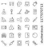 thin line vector icon set  ... | Shutterstock .eps vector #1177070713