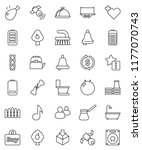 thin line vector icon set  ... | Shutterstock .eps vector #1177070743