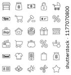 thin line vector icon set  ... | Shutterstock .eps vector #1177070800