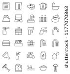 thin line vector icon set  ... | Shutterstock .eps vector #1177070863