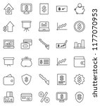 thin line vector icon set  ... | Shutterstock .eps vector #1177070953