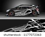 car wrap graphic vector.... | Shutterstock .eps vector #1177072363