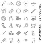 thin line vector icon set  ... | Shutterstock .eps vector #1177072483