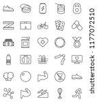 thin line vector icon set  ... | Shutterstock .eps vector #1177072510