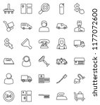 thin line vector icon set  ... | Shutterstock .eps vector #1177072600