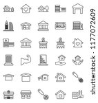 thin line vector icon set  ... | Shutterstock .eps vector #1177072609